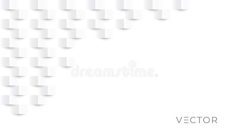 Abstracte textuurachtergrond, wit geometrisch patroon, modern vectorontwerp Geometrische grijze vierkante document grafische text vector illustratie