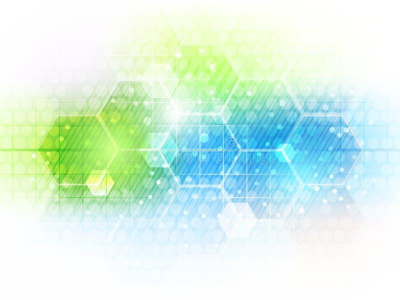 Abstracte toekomstige bedrijfstechnologieachtergrond met hexagon patroon royalty-vrije illustratie