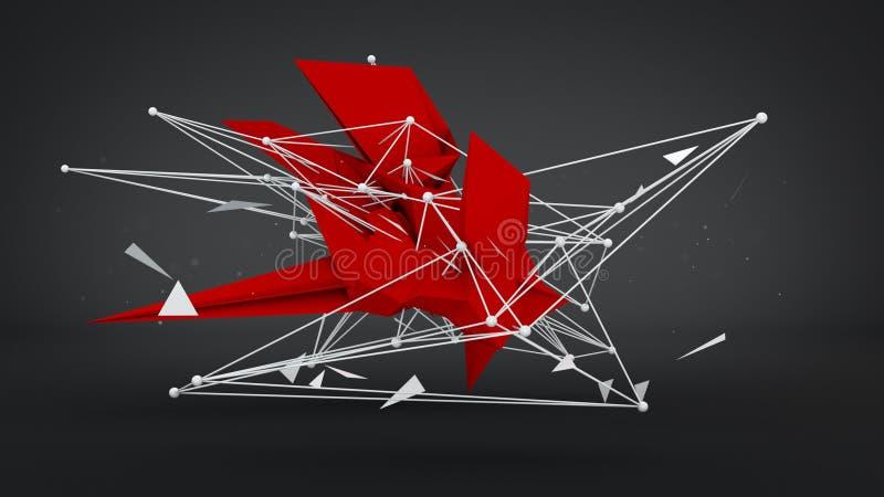 Abstracte toekomstige vorm in studio 3d geef terug royalty-vrije illustratie