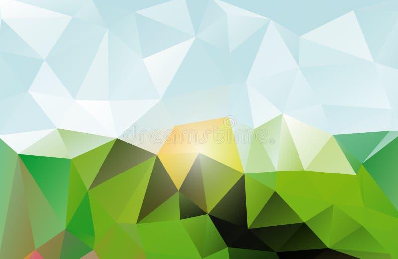 Abstracte triangluar achtergrond stock illustratie