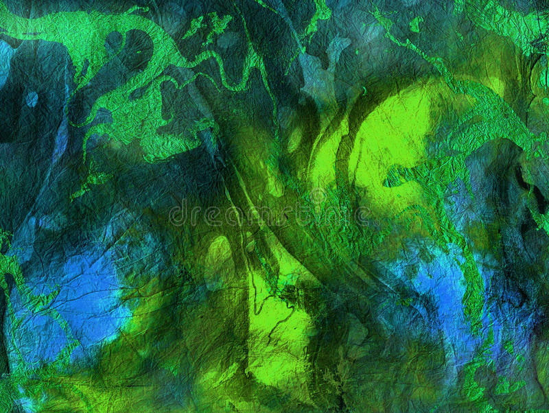 Abstracte trillende groenachtig blauwe textuur, Achtergrond stock foto's