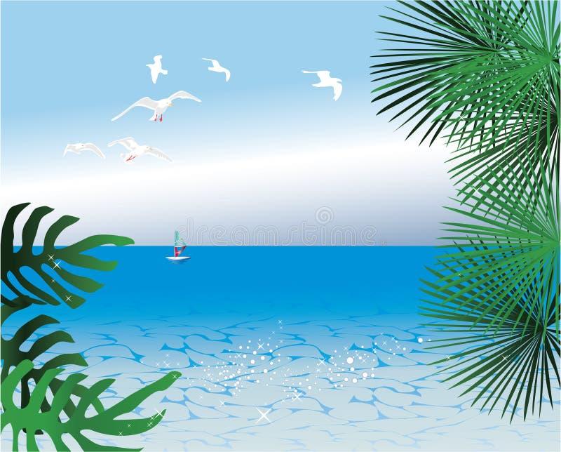 Abstracte tropische achtergronden royalty-vrije illustratie