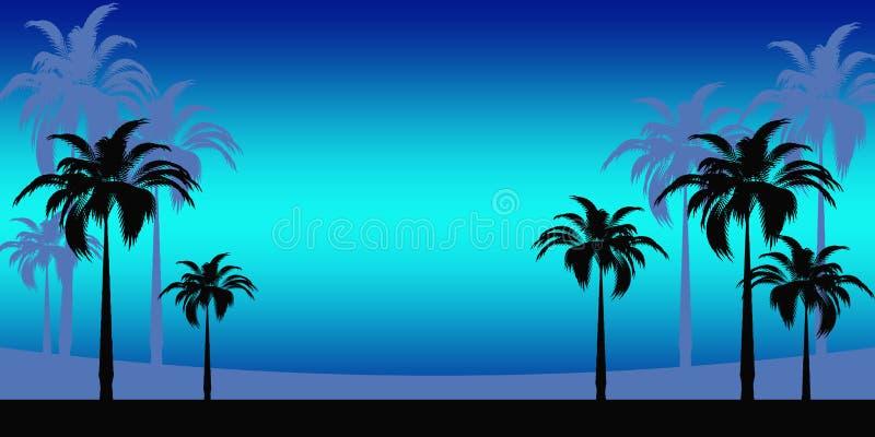 Abstracte Tropische vakantie stock illustratie