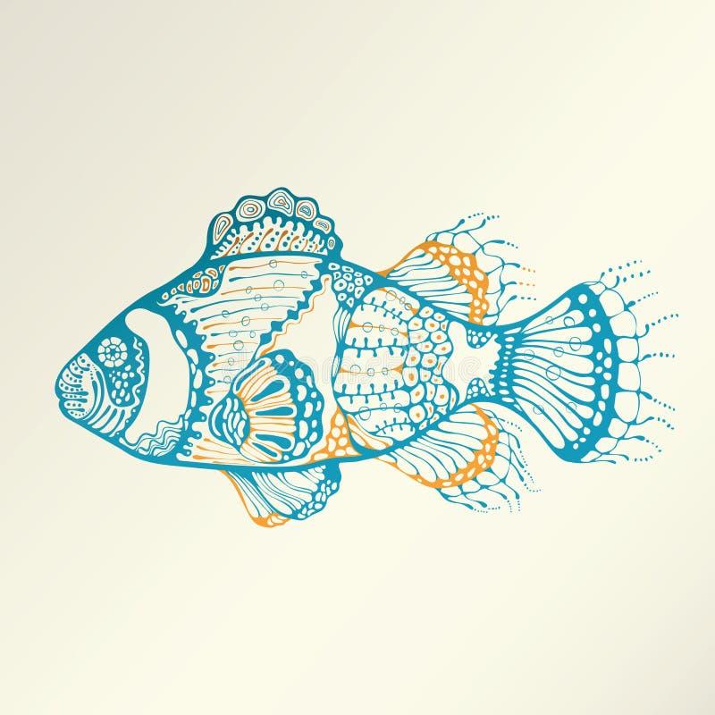 Abstracte Tropische Vissen royalty-vrije illustratie