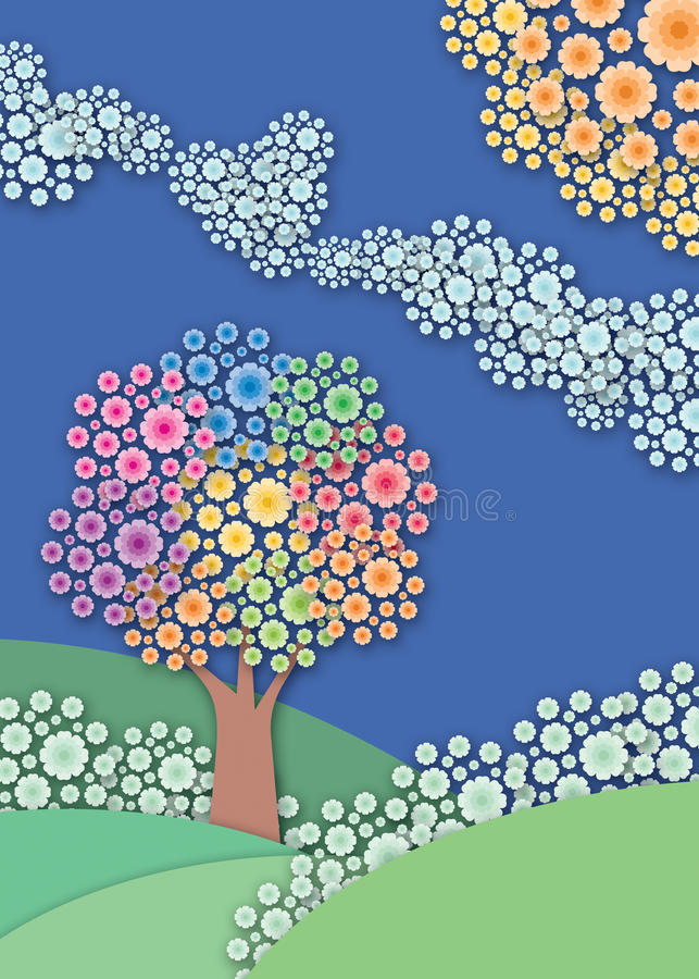 Abstracte tuinachtergrond. vector illustratie
