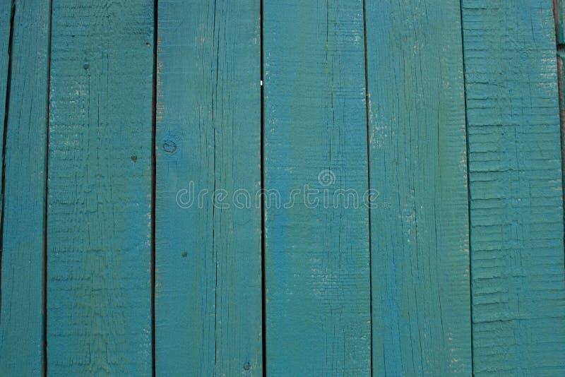 Abstracte turkooise heldere houten textuur over blauwe lichte natuurlijke kleurenachtergrond, oude paneelachtergrond met ruimte v stock afbeeldingen