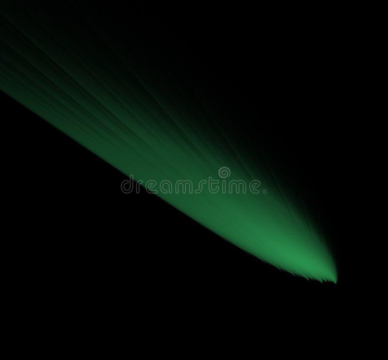 Abstracte ufo groene fractal achtergrond Fantasiefractal textuur Digitaal art het 3d teruggeven Computer geproduceerd beeld stock illustratie