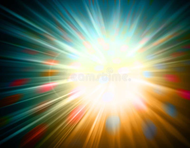 Abstracte uitbarsting vector illustratie