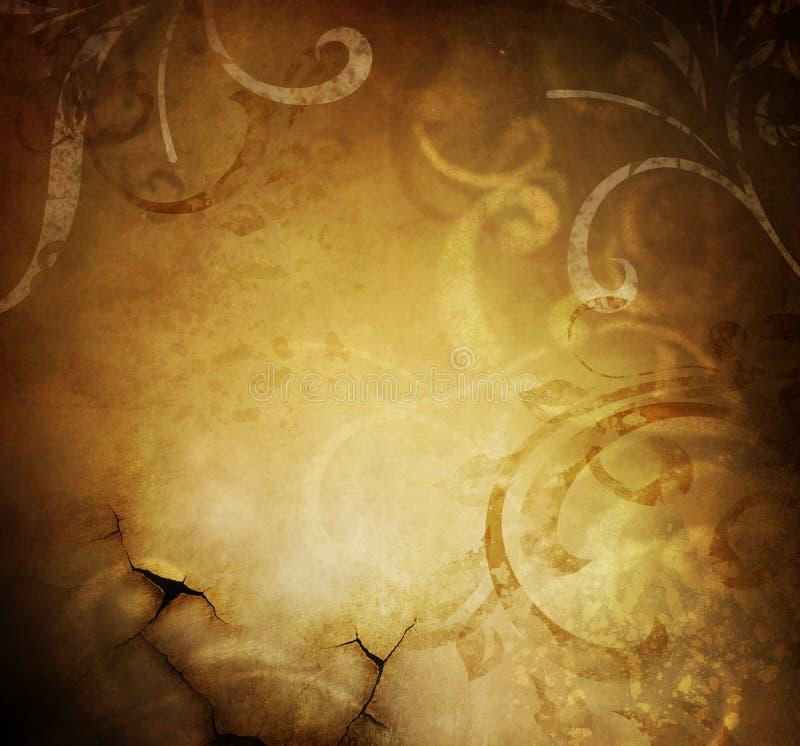 Abstracte Uitstekende BloemenAchtergrond stock fotografie