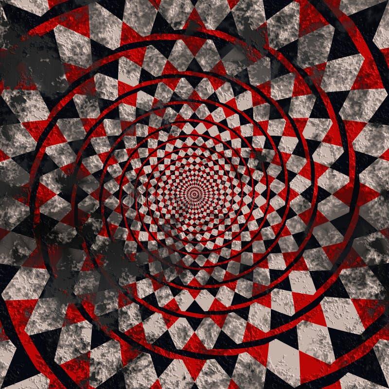 Abstracte uitstekende geruite vuile cirkelachtergrond stock afbeeldingen