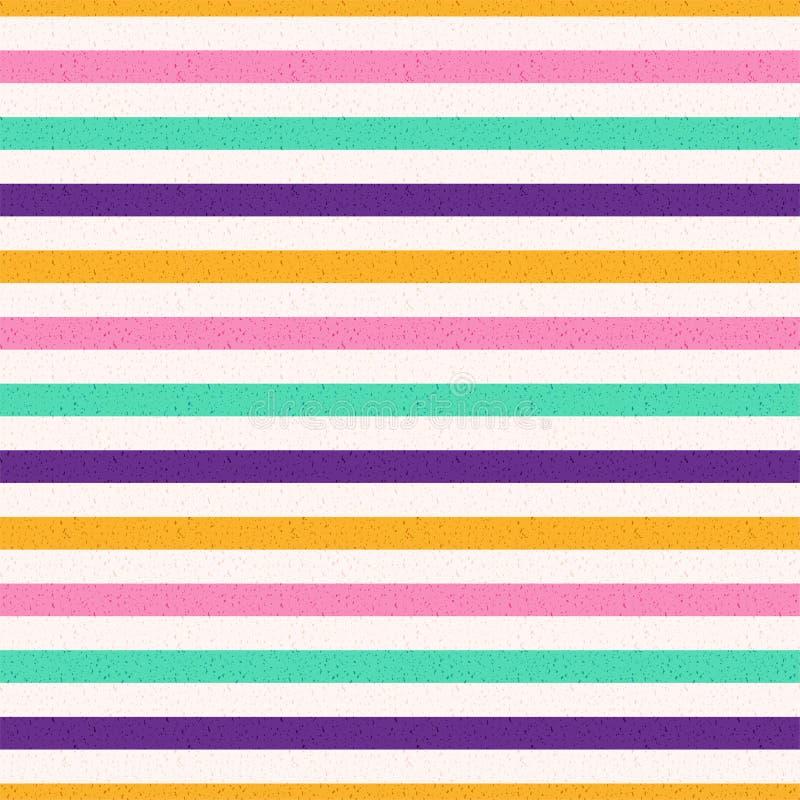 Abstracte Uitstekende Lawaaierige Geweven kleurrijke Gestreepte Achtergrondvoorraadvector vector illustratie