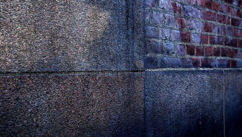 Abstracte uitstekende muur in stedelijke scène royalty-vrije stock fotografie