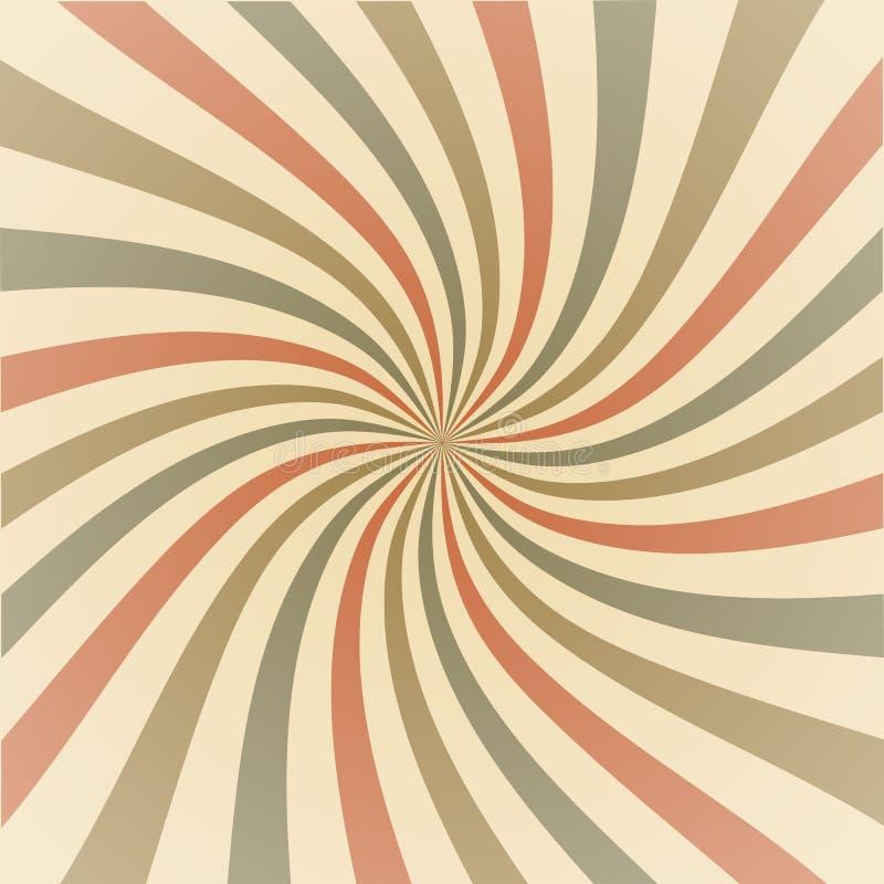 Abstracte uitstekende stralenachtergrond vector illustratie