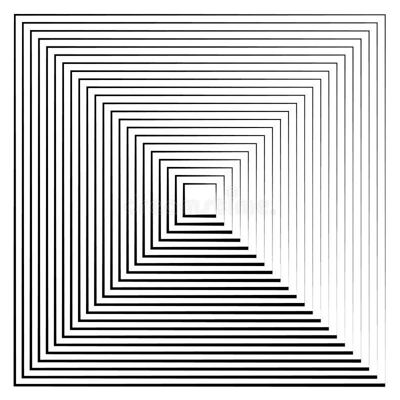 Abstracte uitstralende contourlijnen royalty-vrije illustratie