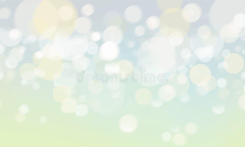 Abstracte vage bokeh steekt behang aan vector illustratie