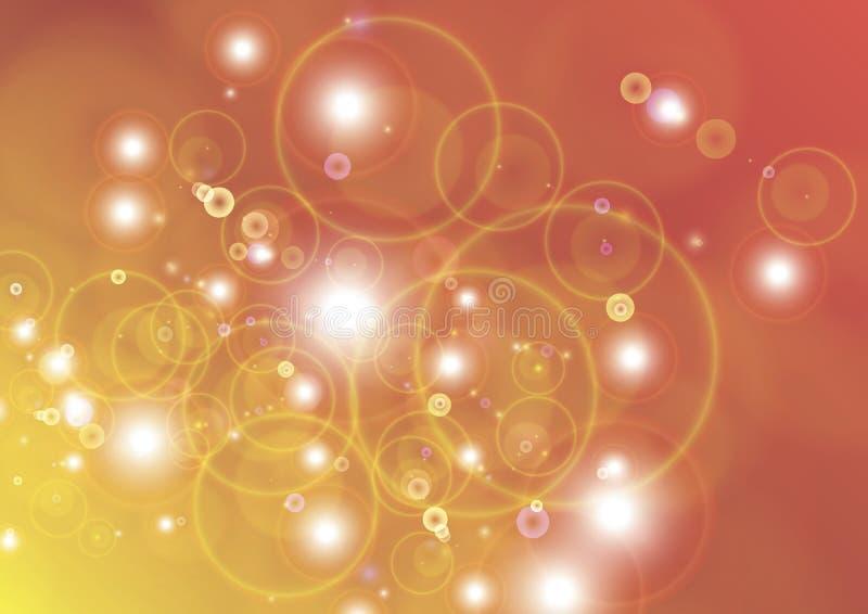 Abstracte vakantieachtergrond met zeepbel vector illustratie