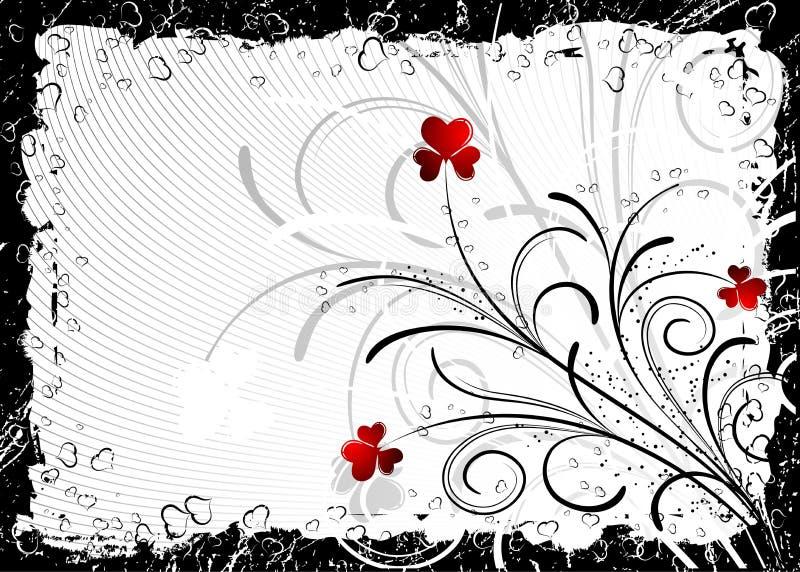 Abstracte valentijnskaartenachtergrond, vector royalty-vrije illustratie