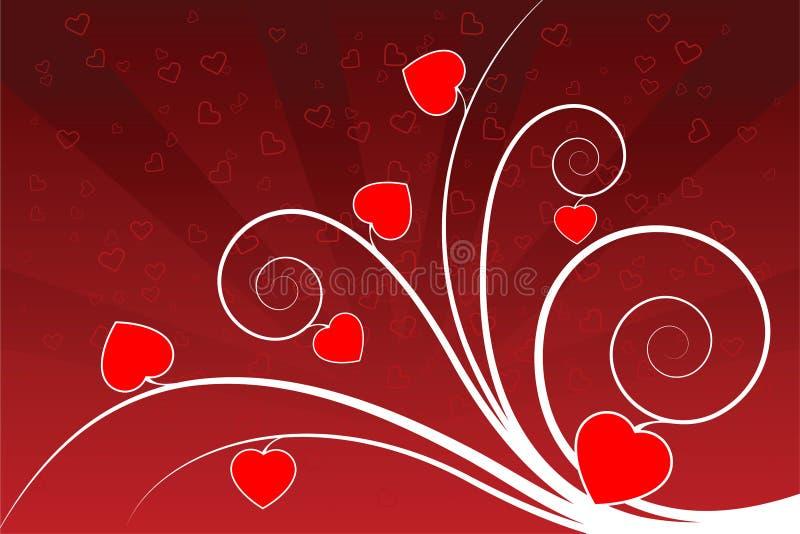 Abstracte valentijnskaartkaart royalty-vrije illustratie