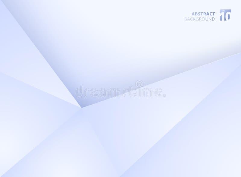Abstracte van de de achtergrond gradiëntkleur van malplaatje geometrische driehoeken witte en blauwe moderne document vouwenstijl royalty-vrije illustratie