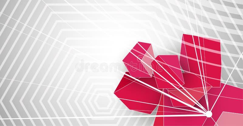 Abstracte van de de bedrijfs computer hexagon technologie van de structuurkring achtergrond stock illustratie