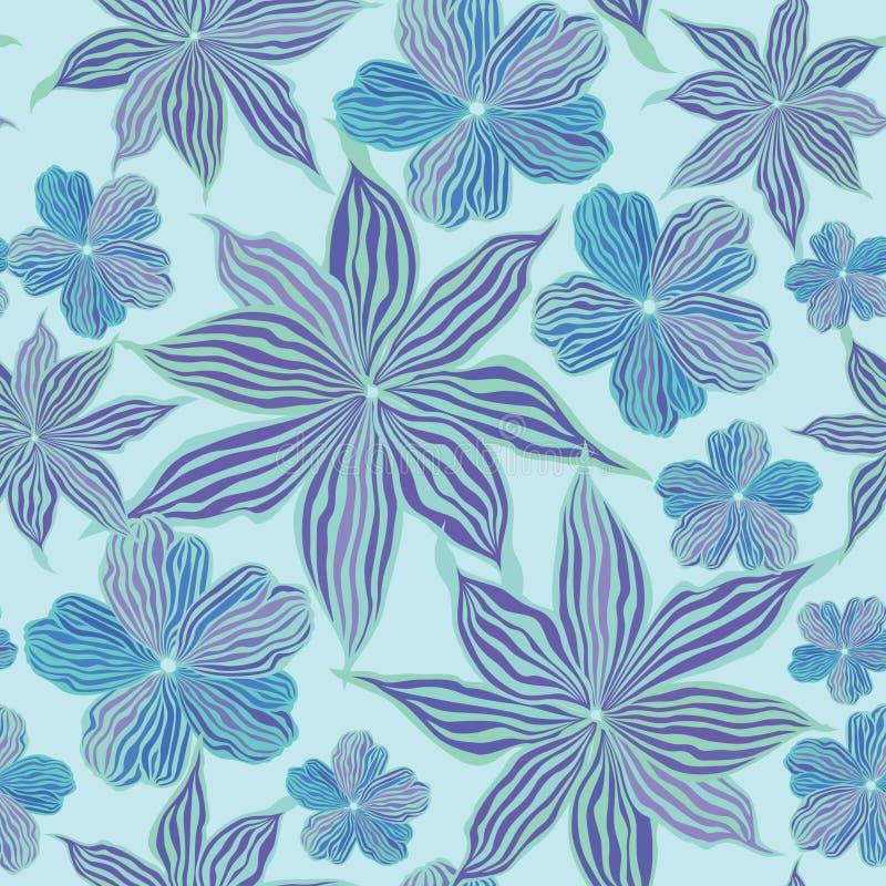 Abstracte van de bloem Naadloze VectorTextuur Als achtergrond stock illustratie