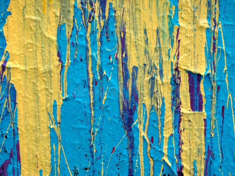 Abstracte van de Druppel van de Verf Textuur Als achtergrond royalty-vrije stock afbeelding