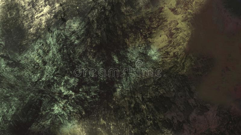 Abstracte van de het landschapsoppervlakte van het textuur materi?le geologische terrein mooie digitale de illustratieachtergrond royalty-vrije illustratie