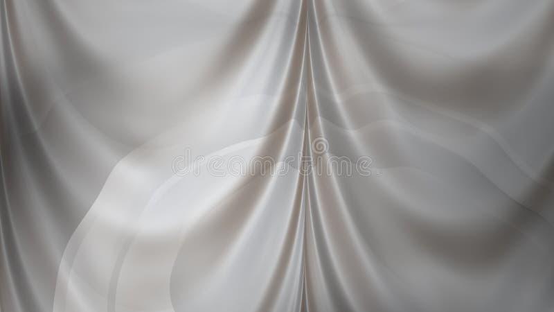 Abstracte van de de Illustratie grafische kunst van Grey Silk Drapes Background Beautiful elegante het ontwerpachtergrond royalty-vrije illustratie