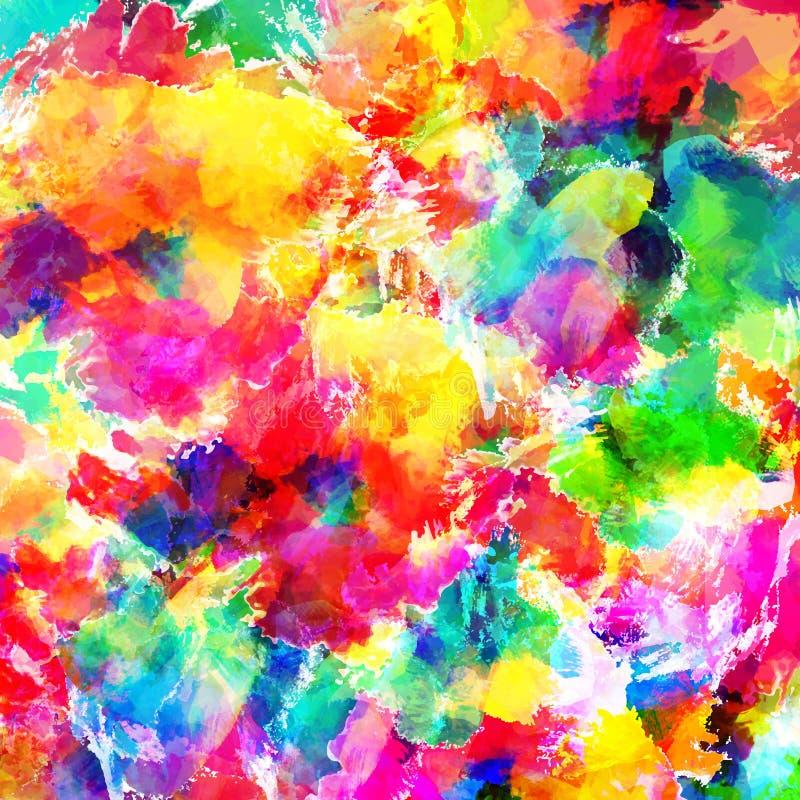 Abstracte van de kleurenplons illustratie als achtergrond royalty-vrije stock fotografie