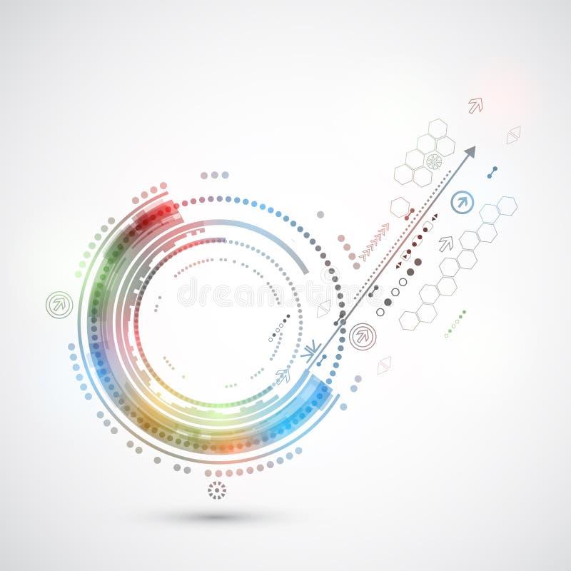 Abstracte van de kleurentechnologie computer als achtergrond/technologiethema royalty-vrije illustratie