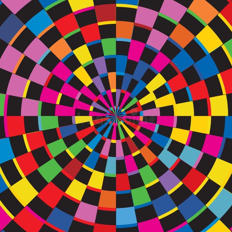 Abstracte van de de Zonuitbarsting van Kleuren Geruite Geometrische Vierkanten Textuur Als achtergrond royalty-vrije illustratie
