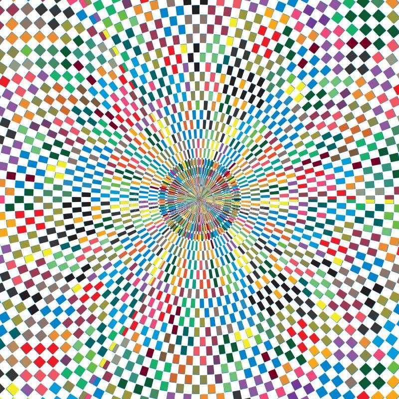 Abstracte van de de Zonuitbarsting van Kleuren Geruite Geometrische Vierkanten Textuur Als achtergrond stock illustratie