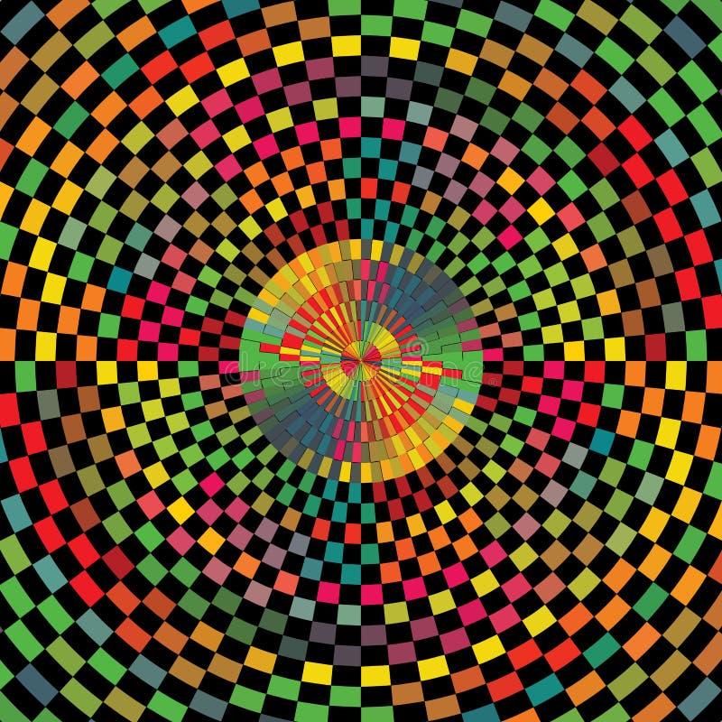Abstracte van de de Zonuitbarsting van Kleuren Geruite Geometrische Vierkanten Textuur Als achtergrond vector illustratie