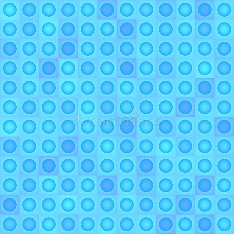 Abstracte vector geometrische achtergrond - blauwe vormen Naadloos patroon royalty-vrije illustratie