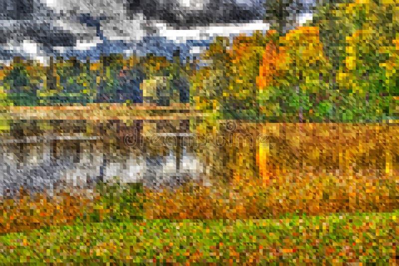 Abstracte vector geometrische achtergrond, landschap, lage polystijl vector illustratie