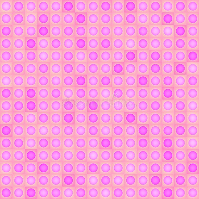 Abstracte vector geometrische achtergrond - roze vormen Naadloos patroon royalty-vrije illustratie