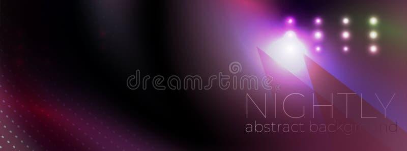 Abstracte vector gloeiende donkere achtergrond vector illustratie