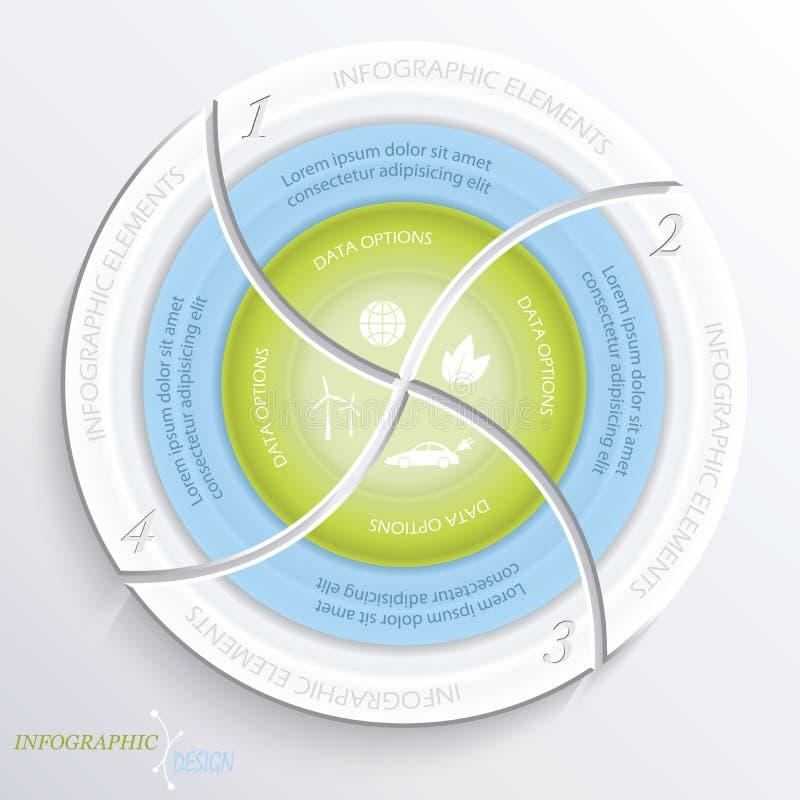 Abstracte vector infographic ontwerpcirkel stock illustratie