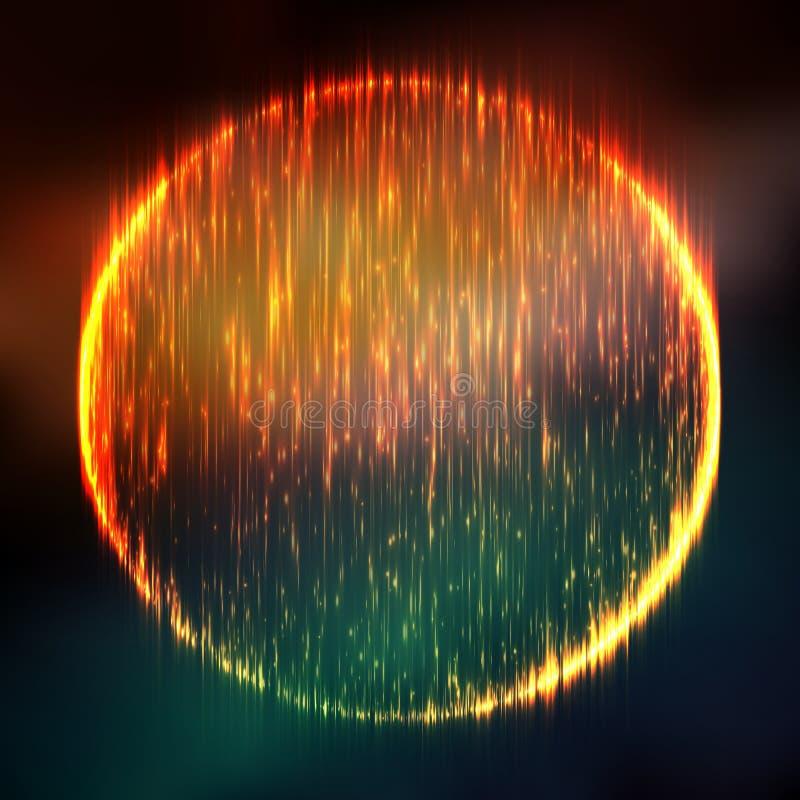 Abstracte vector kleurrijke netwerkachtergrond Zwart gat of bijzonderheid Futuristische technologiestijl vector illustratie