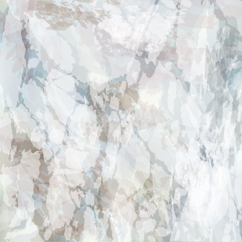Abstracte vector marmeren textuurachtergrond Het witte grijze bruine patroon van de steenrots Aardeffect oppervlaktedecoratie stock illustratie