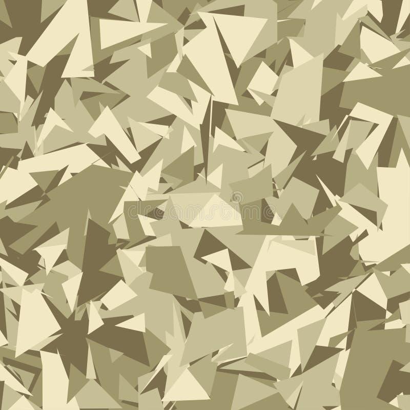 Abstracte Vector Militaire Camouflageachtergrond royalty-vrije illustratie