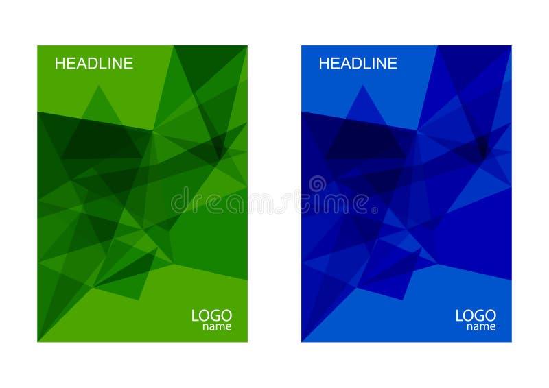Abstracte vector moderne brochure, jaarverslag, ontwerpmalplaatjes, het toekomstige ontwerp van het Affichemalplaatje royalty-vrije illustratie
