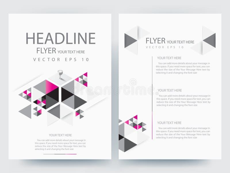 Abstracte vector moderne het ontwerpmalplaatjes van de vliegersbrochure royalty-vrije stock fotografie