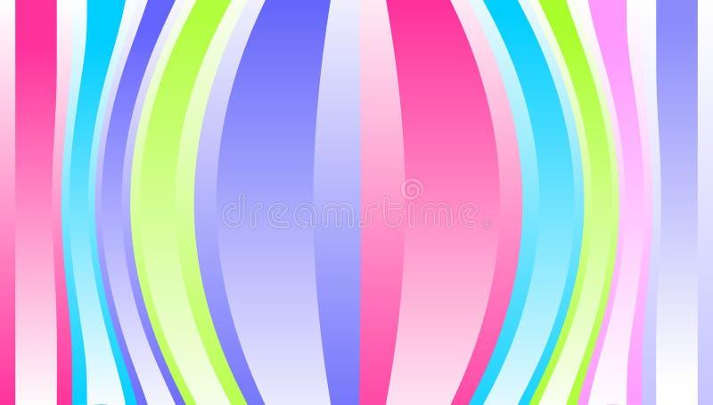 Abstracte vector multicolored golvende stroken Achtergrond behang royalty-vrije illustratie