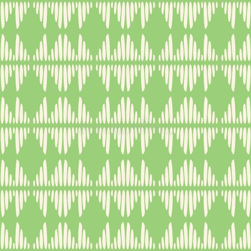 Abstracte vector naadloos herhaalt patroonachtergrond Moderne modieuze hand getrokken groene stammen gestreepte textuur van het h royalty-vrije illustratie