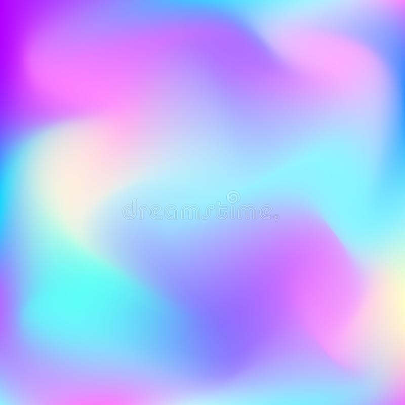 Abstracte vector stromende achtergrond Beeld in blauwe, purpere, roze en gele kleuren Malplaatje voor uw decor en ontwerp: banner stock illustratie