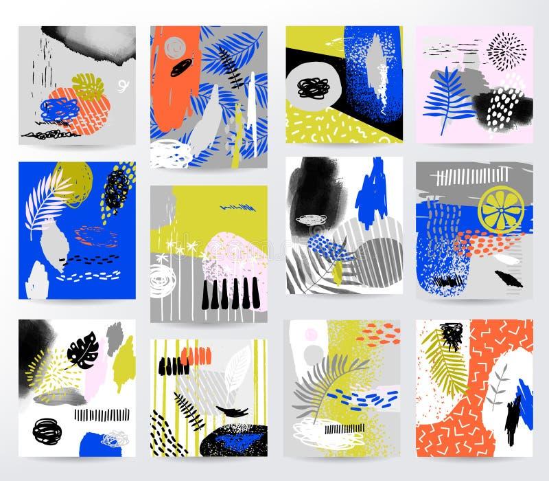 Abstracte vector tropische reeks stock illustratie