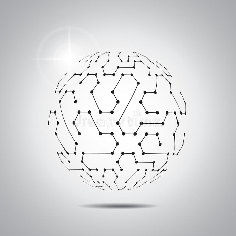 Abstracte vectorachtergrond Futuristische technologiestijl Elegante achtergrond voor presentaties de bedrijfs van technologie royalty-vrije illustratie