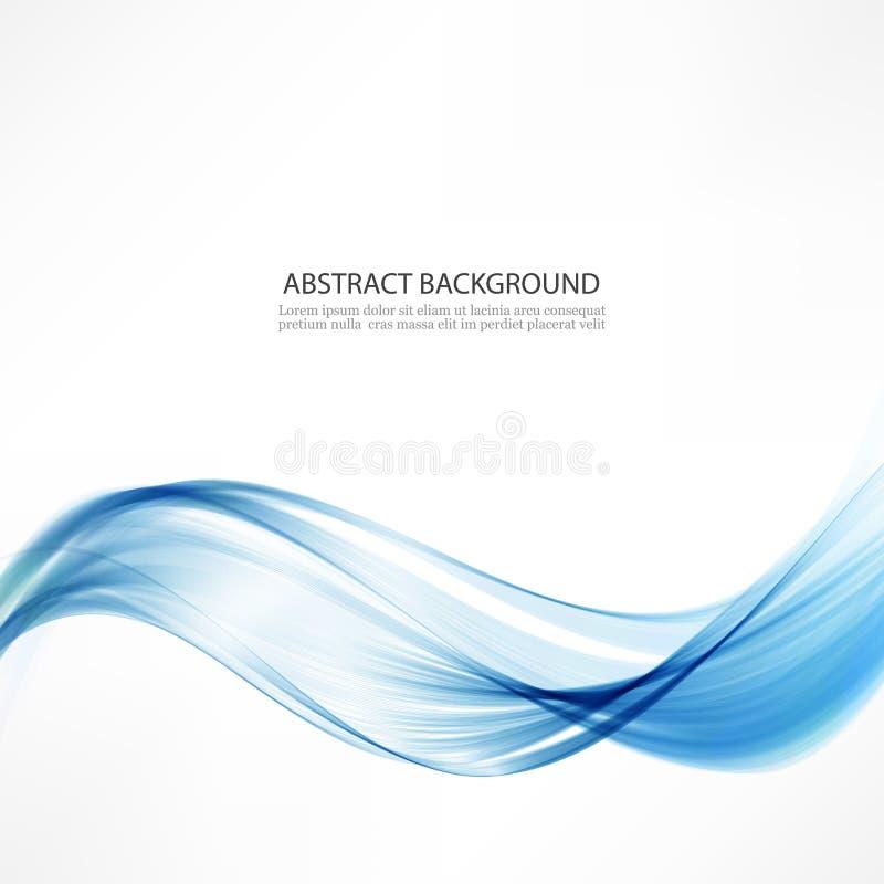 Abstracte vectorachtergrond Golven en een blauwe lijn royalty-vrije illustratie