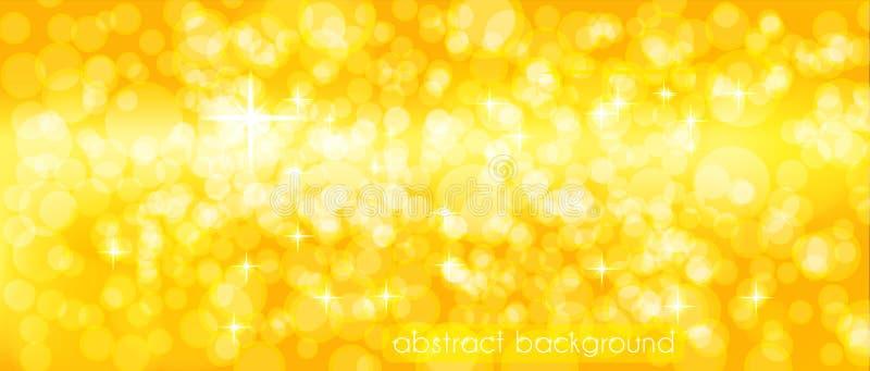 Abstracte vectorachtergrond in gouden tonen Achtergrond voor het verfraaien van de plaats` s Kopbal, banner, vakantiekaarten, gel stock illustratie